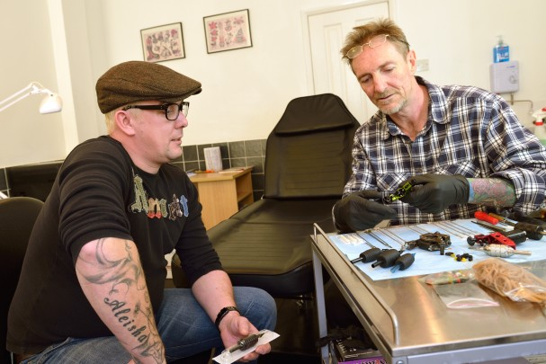 A gas engineer is turning in his tools to fulfil a long-held dream of becoming a tattooist