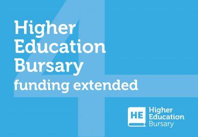 Higher Education Bursary Funding Extended